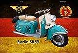 Schatzmix IWL Berlin SR59 DDR mofa Moped Motorrad Scooter blechschild