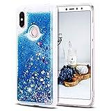 Cover Xiaomi Redmi S2, CaseLover 3D Glitter Liquido Sabbie Mobili Trasparente Morbido TPU Silicone Custodia Redmi S2 Brillantini Sequin Cristallo Posteriore Copertura Protettiva Case