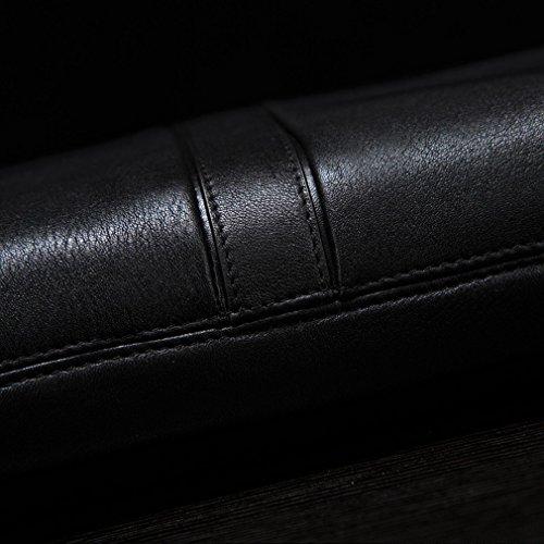 BN Uomo D'Affari Casual Fashion Handle Messenger Bag Borsa a Tracolla Multi-Card,Nero Nero