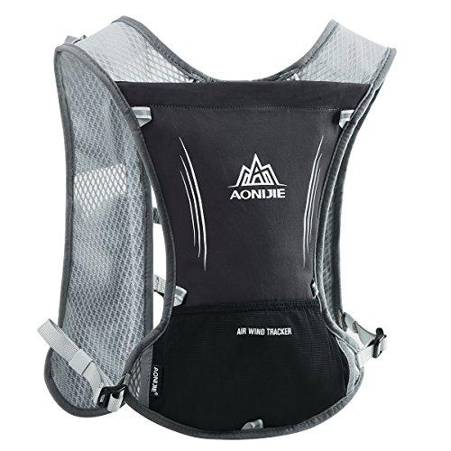LOCAL LION Laufrucksack Trinkrucksack Fahrradrucksack Hydration Pack Ultraleicht 5.5L mit Trinksystem für Radsport, Laufen, Joggen, Wandern, Radfahren, Camping, Bergsteigen und Marathon (Schwarz2)