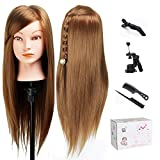 "TopDirect 20"" Mannequin Head Hair Synthetic Cosmetology Maniquin Manikin Hairdressing Training Head Doll"