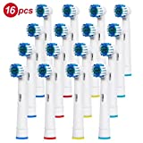 Banavos 16 Stück Aufsteckbürsten Ersatzzahnbürsten Ersatz Zahnbürsten für Braun Oral-B elektrische Zahnbürsten