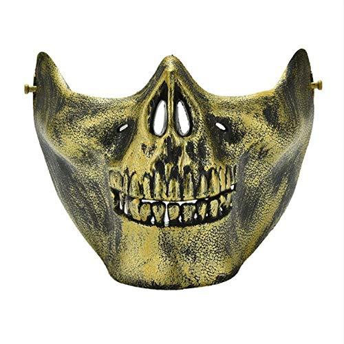 Shuangklei Scary Skull Skeleton Maske Halloween Kostüm Halbe Gesichtsmasken Für Party