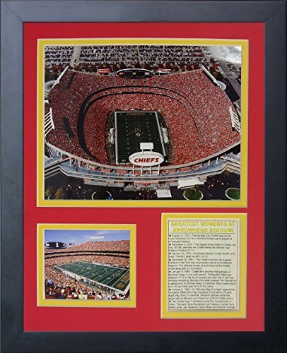 Legends Never Die Kansas City Chiefs Arrowhead Stadium Aerial Framed Photo Collage, 11 by 14-Inch by Legends Never Die