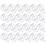 24 Pack Plastic Tablecloth Clips, Clear Table Cover Cloth Clamps Holder for Party Picnic