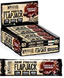 Warrior Supplements Raw High Protein Flapjack Bars, 12 x 75 g (Chocolate Brownie)