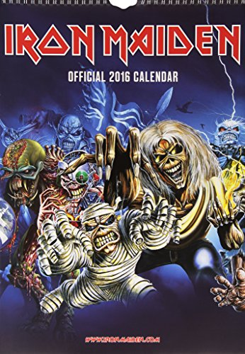 Official Iron Maiden 2016 A3 Wall Calendar