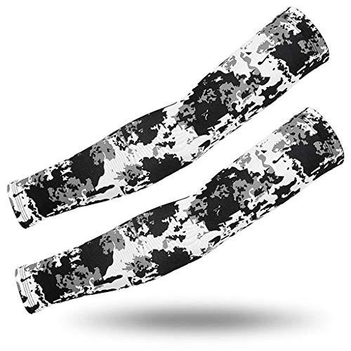 Armmanschette, 3 Paar Sonnenschutzmanschetten Aus Tarneis Und Seide, Sonnenschutzmanschetten Für Outdoor-Aktivitäten, Flower Arm Tattoo (Color : H)