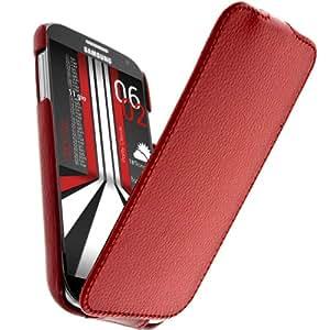Housse Etui Clapet Ultra-fin Rouge pour Samsung Galaxy S4 et S4 Advance