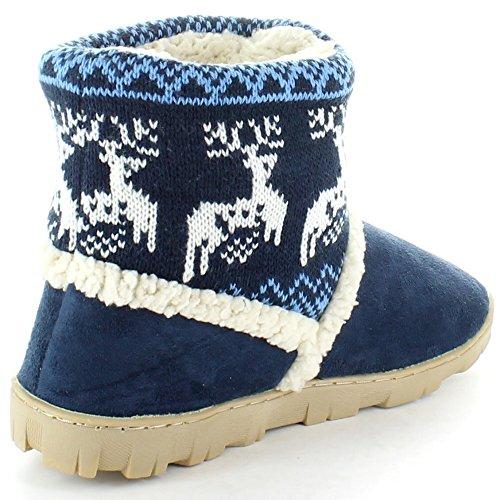 Outdoor Look Ladies Denmark Winter Slippers Boots Navy Navy