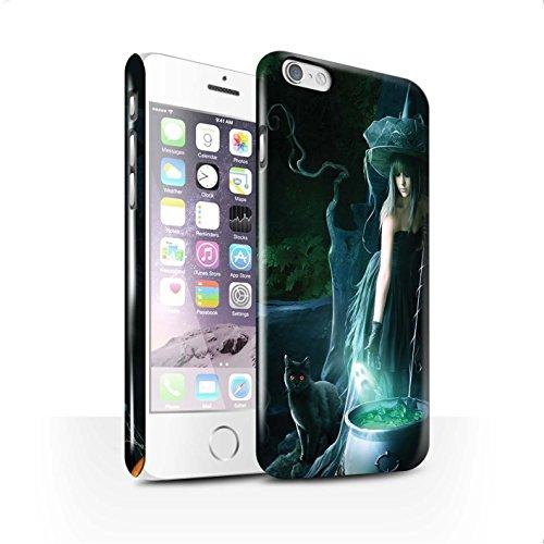 Officiel Elena Dudina Coque / Clipser Brillant Etui pour Apple iPhone 6 / Orbe/Sorcellerie Design / Magie Noire Collection Sorcière Chaudron
