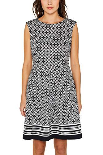 ESPRIT Collection Damen 049EO1E007 Kleid, Schwarz (Black 001), Herstellergröße: 38