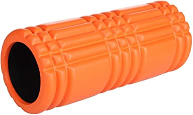 US Fitness Mounted Yoga Massager Foam Roller Embosed Design For Fitness Home Exercises Gym Pilates Physiotherapy Massage High Density Foam With Grid Textures For Deep-Tissue,Stretching & Trigger Point 34 cm x 15 cm x 15 cm(Color-Orange)