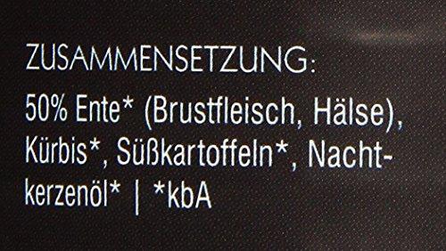 Herrmanns Bio Hundefutter Ente Menu 1 mit Süßkartoffel, Kürbis, Nachtkerzenoel 800 g, 6er Pack (6 x 800 g) - 2