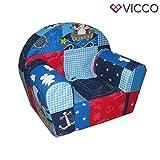 Vicco Kindersessel Kindersofa Minisofa Kindermöbel Sessel Sofa Schaumstoff (Pirat)