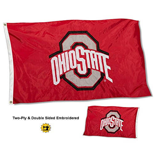 College Flags and Banners Co. Ohio State Buckeyes doppelseitig Nylon Bestickt -