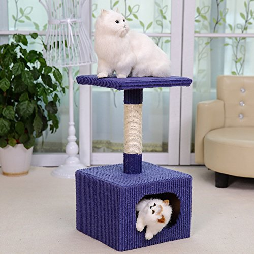 ZPP-Animali domestici gatti cat piccoli due-tier cat tree e tempo libero cat scratchers sisal cat jumping lettiera di gatto