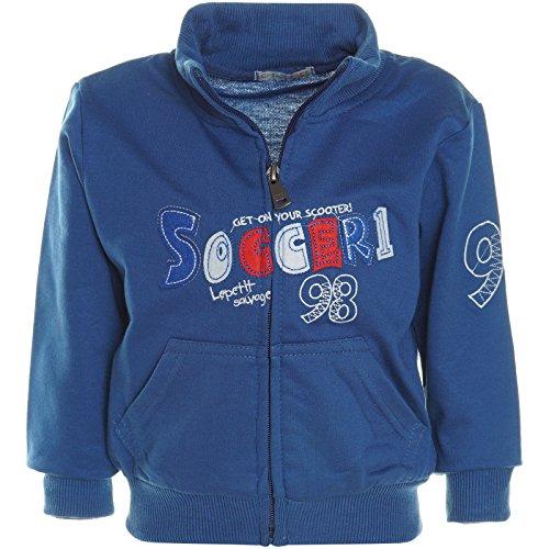 BEZLIT Baby Jungen Hoodie Pullover Jacke Stehkragen Sweatshirt Sweatjacke 21231 Blau Größe 110