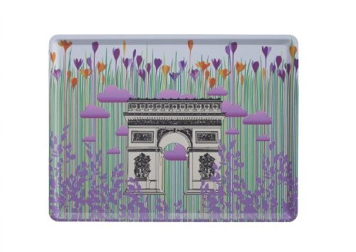 Triomphe-dekor Arc De (Platex 102820211S Tablett Arc De Triomphe 28 x 20 cm)