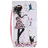 Laybomo Cover Huawei Mate 10 Lite Custodia PU Pelle Portafoglio Morbido TPU Silicone Flip Cover Case Magnetico Protezione Custodia per Huawei Mate 10 Lite, Bella Ragazza