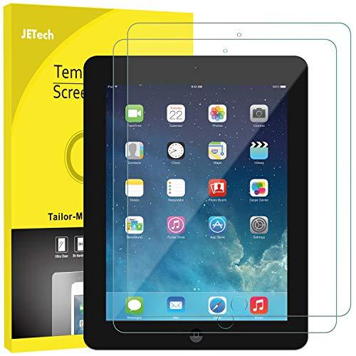 JETech Schutzfolie für iPad 4, iPad 3 und iPad 2, Gehärtetem Glas Panzerglas Displayschutzfolie, 2 Stücke (Ipad 4 Screen Protector)