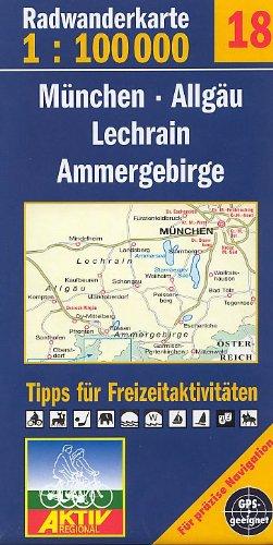 Fahrradkarte Radkarte München Allgäu Lechrain Ammergebirge 1:100.000