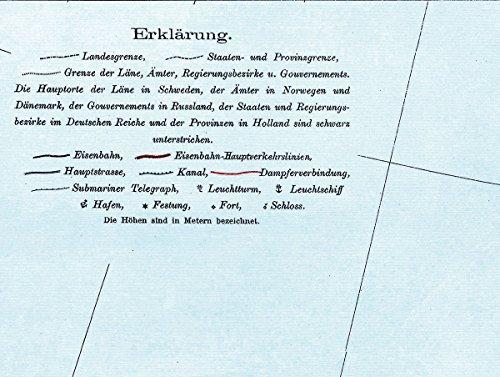 Historische Karte: SCHWEDEN, NORWEGEN, FINNLAND und DÄNEMARK - um 1910 [gerollt]: Carl Flemmings Generalkarte, No. 30: Alle Infos bei Amazon