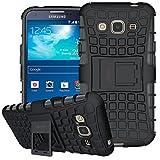 Samsung Galaxy S3 Hülle, ykooe Galaxy S3 Handyhülle TPU Stoßfest Handy Ständer (4,8 Zoll) Schwarz