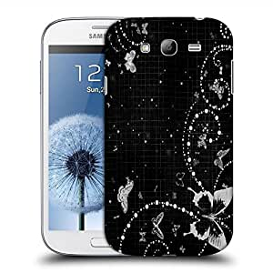 Snoogg Grey Butterfly Designer Protective Back Case Cover For SAMSUNG GALAXY GRAND DUOS I9082