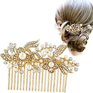 Maycreate Wedding Hair Accessories for Women (Gold)