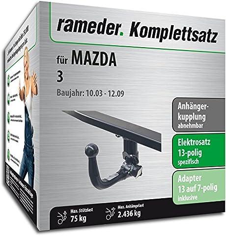 RAMEDER Komplettsatz, Anhängerkupplung abnehmbar + 13pol Elektrik für MAZDA 3
