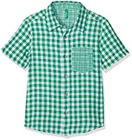 United Colors of Benetton Boy's Shirt, Green (Green/White), 3-4 Years