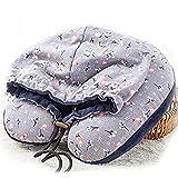 ZHUOTOP - Cojín de viaje con capucha y capucha para el cuello, azul