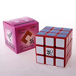 KSF(TM) Dayan ZhanChi Cube Rouge 55mm 3x3x3 trois vitesses Magique Puzzle Cube 6-Couleur de vitesse Cube Magique speed cube 100% Original
