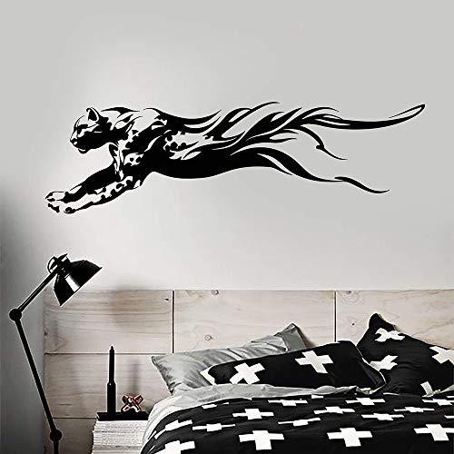 Abstrakte predator afrikanischen tier leopard vinyl wandaufkleber aufkleber wohnkultur schlafzimmer teen zimmer diy kunst wandbild 42 * 115 cm -