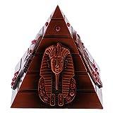 Sharplace Mini Gebäude Statuen Modell aus Metall - Dekoration für Haus, Büro, Zimmer, Bars, Cafés, Restaurants usw. - Ägyptische Pyramide
