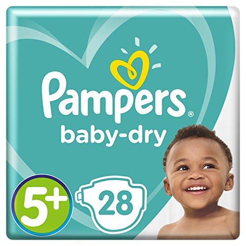 Pampers Baby Dry Windeln, für atmungsaktive Trockenheit, Gr. 5+ (12-17 kg), 1er Pack (1 x 28 Stück)