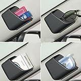 #7: Delhitraderss -2 X Grey Car Pillar Pocket Holder Box Cigarette Cellphone Sunglasses Holder for - Tata Zest