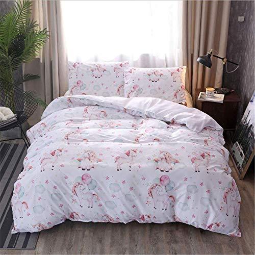 SHJIA Doppel Bettbezug Set Bettwäsche Voll Für Mädchen Mädchen Twin Bettwäsche-Sets Bettlaken A 200x230cm (Twin Mädchen Bettwäsche)