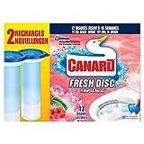 Canard WC Fresh Disc Nettoyant Flowers Oasis 12 Disques 2 x 36 ml - Lot de 2