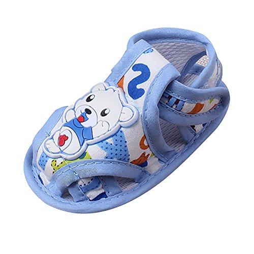 Scarpine Primi Passi per Lui,Scarpe con Traspirante per Bambini e Ragazzi,YanHoo Sandali dei Pattini antiscorrimento dei Bambini Casuali della neonata del Ragazzo della Ragazza (11, Blu)