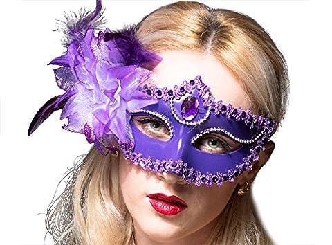 Reine Mardi Gras Costumes Sexy - Moolecole Maquillage Danse Masque Moitié Visage Sexy
