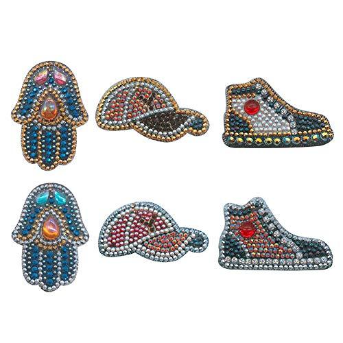 Strass Schlüsselanhänger - DIY Special Shaped Diamond Keychain Cartoon Handschuhe Hut Schuhe - für Frauen Mädchen Tasche Handtasche Charms Anhänger Geburtstagsgeschenk
