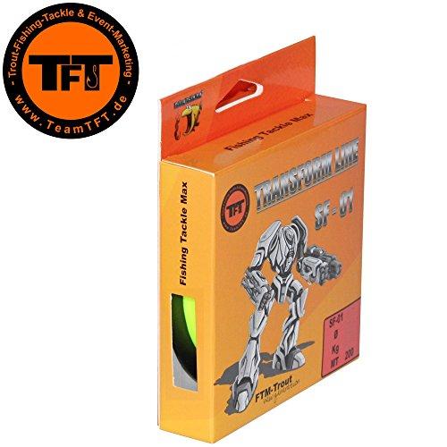 forellenschnur TFT Transform Line SF-01 200m Fluo gelb - Angelschnur für Forellen, Forellenschnur, Monofile Schnur zum Forellenangeln, Monoschnur, Durchmesser/Tragkraft:0.16mm / 3.67kg Tragkraft