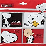 Peanuts - The Concept Factory - 4 magnets - Je suis unique/Snoopy forever/#Snoopy Original/#Snoopy Best Friends