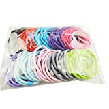 Voberry 50 Pcs Lady Children Hair Band Hair Accessory Hair Rope Ponytail Holder Candy Color Black