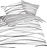 Kaeppel Feinbiber Bettwäsche Motion Größe 135x200+80x80 cm Farbe Schiefer