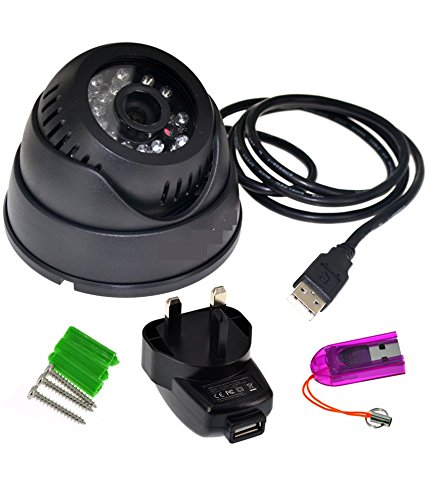 Rashri CCTV Dome DVR Camera TV-Out SD-Card Motion Detection night vision Play Back