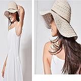DAHAI FU 1 UNID Encaje sombrero de Encaje Paja de Verano Patrón Seaside Accesorios Para Mujer Sombrero de Sombrilla de Playa (5)