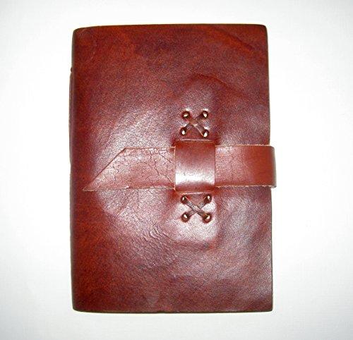 paperfreak: Ledernotizbuch 13x18 - Büffelleder Büttenpapier Lederjournal Lederbuch Skizzenbuch...